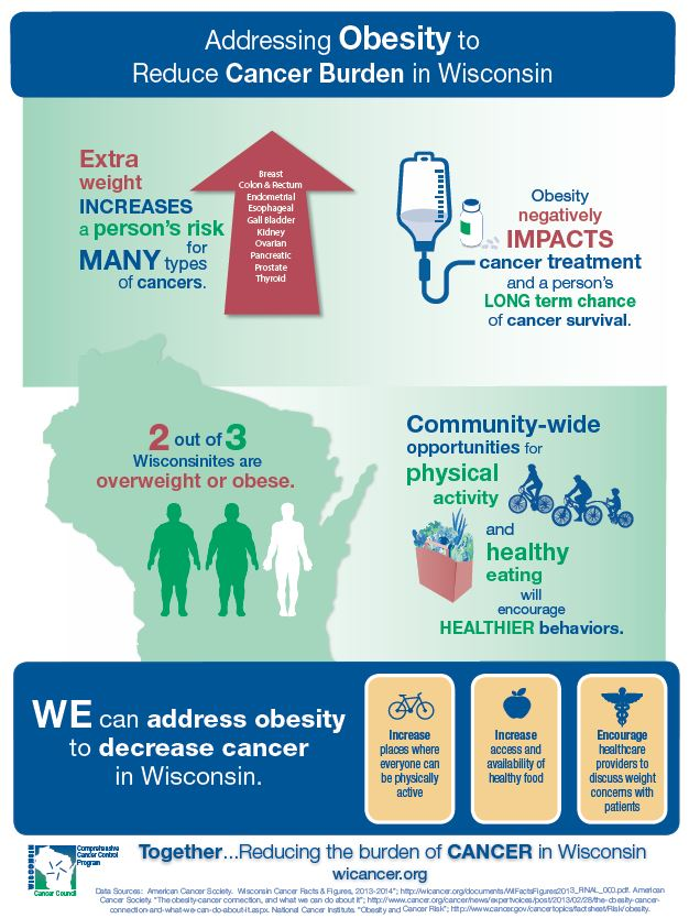 Addressing Obesity to Reduce Cancer Burden in Wisconsin
