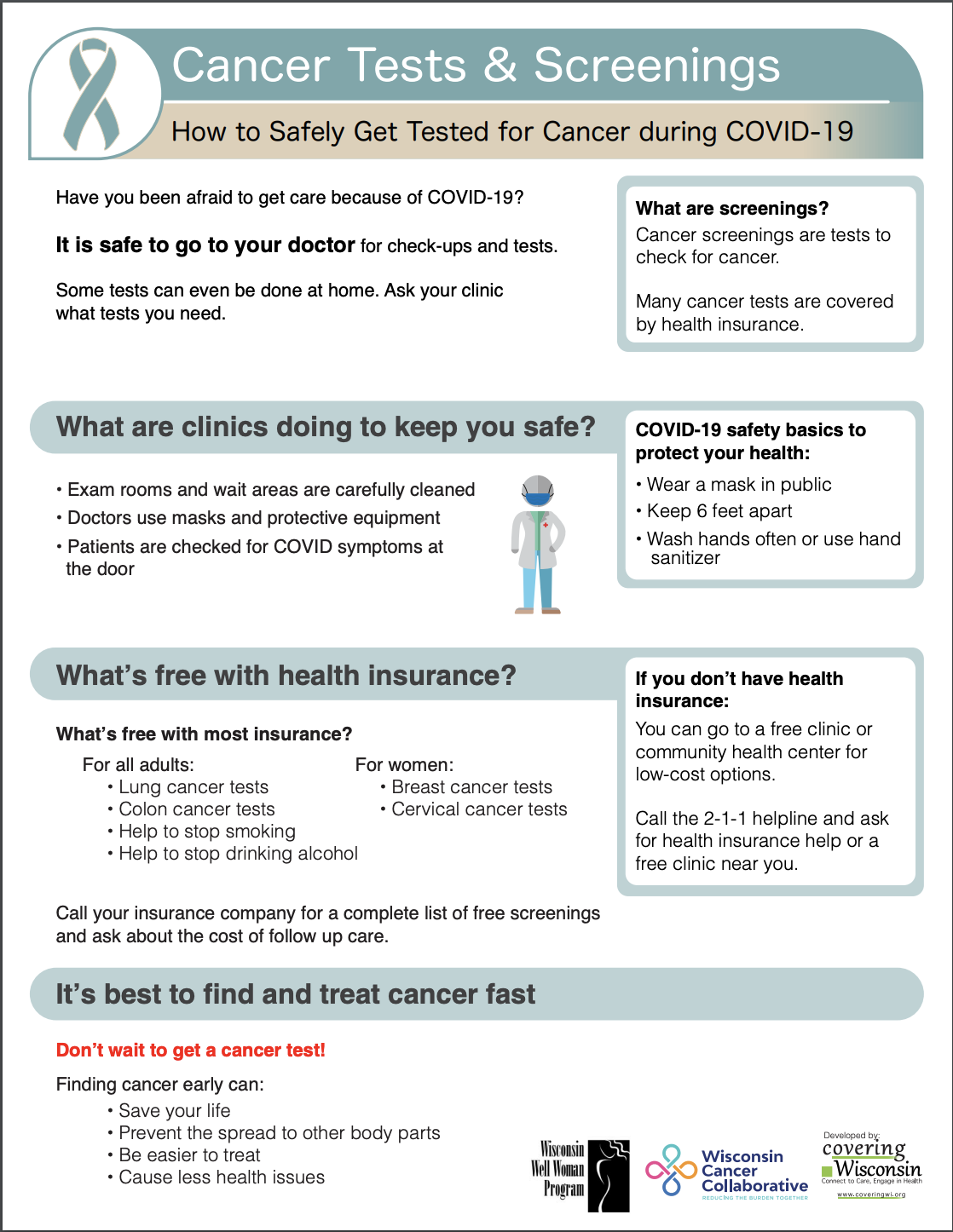 Cancer Tests and Screenings Cover